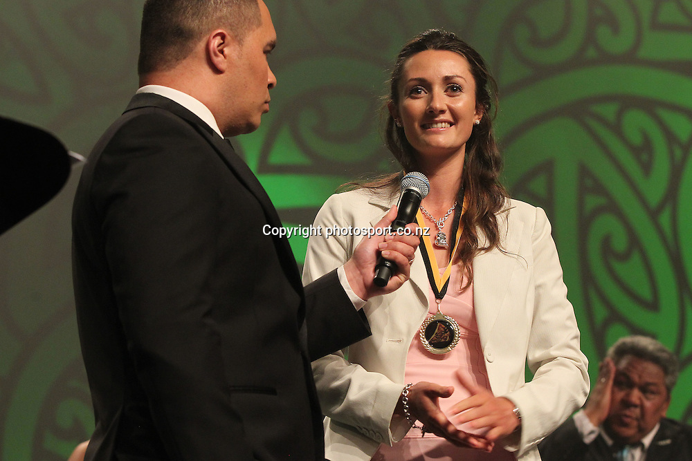 301113 2013 Nancy Te Whata is awarded for her involvement in a world champion team for NZ mounted Games at the Trillian Trust Maori Sports Awards at Vodafone Events Centre, Manukau. Photo: Fiona Goodall/photosport.co.nz