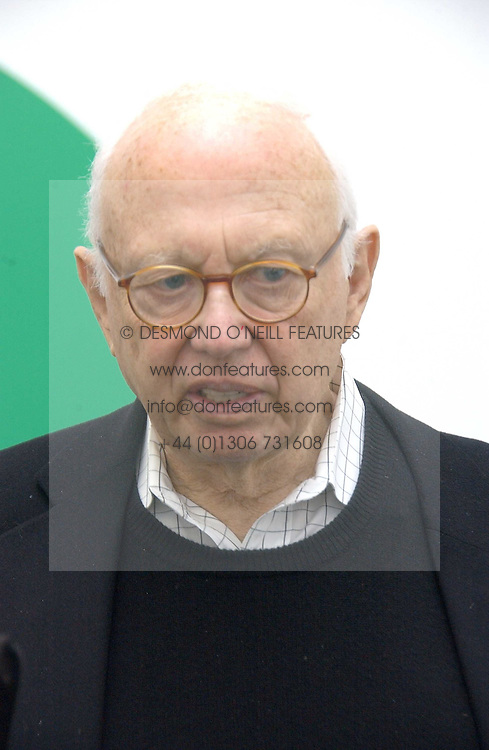 ELLSWORTH KELLY at an exhibition of leading artist Ellsworth Kelly at the Serpentine Gallery, Kensington Gardens, London followed by a dinner at the Riverside Cafe, London on 17th March 2006.<br /><br />NON EXCLUSIVE - WORLD RIGHTS