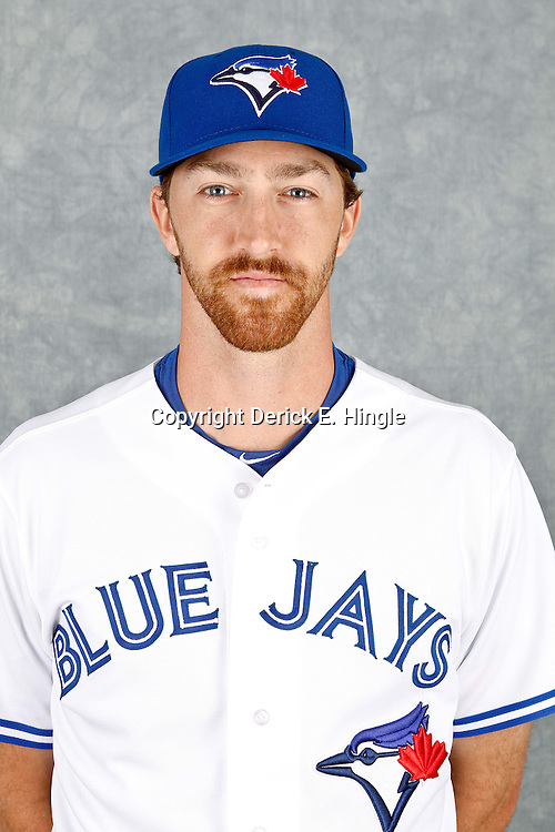 March 2, 2012; Dunedin, FL, USA; Toronto Blue Jays relief pitcher Jim Hoey (59) poses for a portrait during photo day at Florida Auto Exchange Stadium.  Mandatory Credit: Derick E. Hingle-US PRESSWIRE