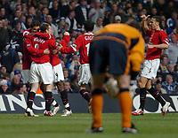 Photo: Ed Godden.<br />Reading v Preston North End. Coca Cola Championship. 25/02/2006. Wayne Rooney and Cristiano Ronaldo celebrate Rooneys goal.