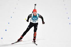 February 10, 2018 - Pyeongchang, South Korea - 180210 Franziska Hildebrand of Germany   competes in the Women's Biathlon 7,5 km Sprint during day one of the 2018 Winter Olympics on February 10, 2018 in Pyeongchang..Photo: Petter Arvidson / BILDBYRN / kod PA / 87614 (Credit Image: © Petter Arvidson/Bildbyran via ZUMA Press)