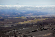 The volcanic landscape of Isabela Island as seen from Sierra Negra. Galapagos Achipelago, Ecuador.