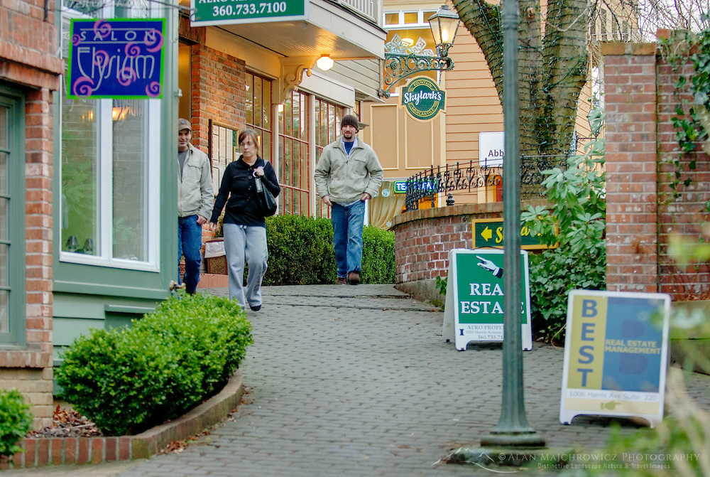 Shops in the Fairhaven District of Bellingham Washington USA