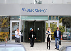 © Licensed to London News Pictures. 12/10/2011. London, UK. The RIM data centre in Slough where the problem with Blackberry servers has arisen. Blackberry users across the UK and Europe and parts of the middle east, today faced a third day of disruption to message and email services after the manufacturer continues to be disrupted by technical problems with its server. Photo: Stephen Simpson/LNP