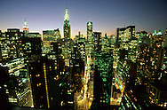 New York. elevated view on Midtown skyline,  and the Chrysler building New York  Usa   /   Les gratte ciel de Midtown