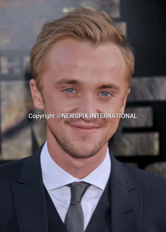 "TOM FELTON.attends the Premiere of ""Rise Of The Planet Of The Apes"" at the Grauman's Chinese Theatre, Hollywood,California_28/07/2011.Mandatory Photo Credit: ©Crosby/Newspix International. .**ALL FEES PAYABLE TO: ""NEWSPIX INTERNATIONAL""**..PHOTO CREDIT MANDATORY!!: NEWSPIX INTERNATIONAL(Failure to credit will incur a surcharge of 100% of reproduction fees).IMMEDIATE CONFIRMATION OF USAGE REQUIRED:.Newspix International, 31 Chinnery Hill, Bishop's Stortford, ENGLAND CM23 3PS.Tel:+441279 324672  ; Fax: +441279656877.Mobile:  0777568 1153.e-mail: info@newspixinternational.co.uk"