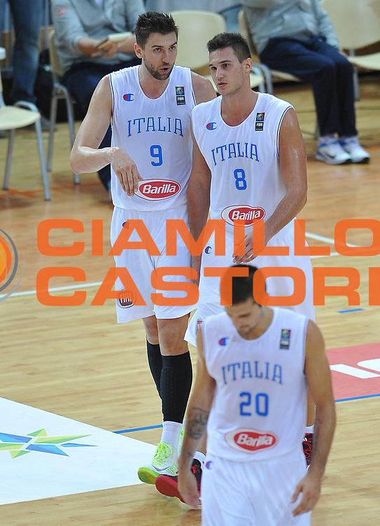 DESCRIZIONE : Capodistria Koper Nazionale Italia Uomini Adecco Cup Italia Italy Ucraina Ukraine<br /> GIOCATORE : Andrea Bargnani Danilo Gallinari<br /> CATEGORIA : ritratto<br /> SQUADRA : Italia Italy<br /> EVENTO : Adecco Cup<br /> GARA : Italia Italy Ucraina Ukraine<br /> DATA : 22/08/2015<br /> SPORT : Pallacanestro<br /> AUTORE : Agenzia Ciamillo-Castoria/A.Scaroni<br /> Galleria : FIP Nazionali 2015<br /> Fotonotizia : Capodistria Koper Nazionale Italia Uomini Adecco Cup Italia Italy Ucraina Ukraine