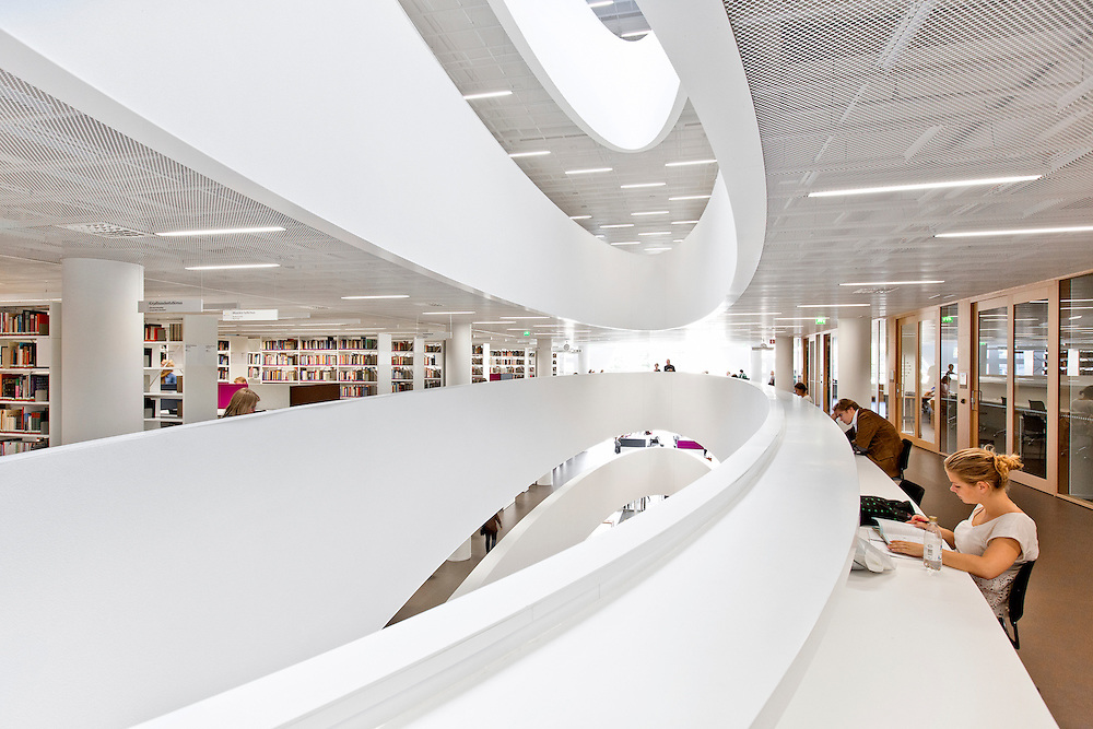 Helsinki University City Centre Campus Library in Finland by AOA architects.