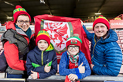 WREXHAM, WALES - Wednesday, March 20, 2019: Wales' supporters before an international friendly match between Wales and Trinidad and Tobago at the Racecourse Ground. (Pic by Paul Greenwood/Propaganda)