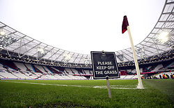 General view of the ground before the Emirates FA Cup, third round match at London Stadium.