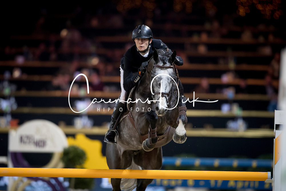 De Winter Jeroen, BEL, Leandro Vg<br /> Young Stallions 5 years of age<br /> Vlaanderens Kerstjumping Memorial Eric Wauters<br /> &copy; Dirk Caremans<br /> 27/12/2016