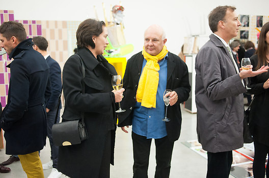 ROLF SACHS, Editor of Wallpaper: Tony Chambers and architect Annabelle Selldorf host drinks to celebrate the collaboration between the architect and three of Savile Row's finest: Hardy Amies, Spencer hart and Richard James. Hauser and Wirth Gallery. ( Current show Isa Genzken. ) savile Row. London. 9 January 2012.