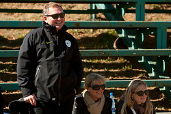 Matjaz Kek and his wife Gordana during friendly match between Slovenian football journalists and officials of Slovenian football federation at  Hyde Park High School Stadium on June 16, 2010 in Johannesburg, South Africa.  (Photo by Vid Ponikvar / Sportida)