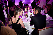 REBECCA HALL; EVGENY LEBEDEV, 56th London Evening Standard Theatre Awards. Savoy Hotel. London. 28 November 2010.  -DO NOT ARCHIVE-© Copyright Photograph by Dafydd Jones. 248 Clapham Rd. London SW9 0PZ. Tel 0207 820 0771. www.dafjones.com.