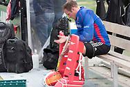 Eindhoven - Oranje Rood - Bloemendaal  Heren, Hoofdklasse Hockey Heren, Seizoen 2017-2018, 15-04-2018, Oranje Rood - Bloemendaal 1-1, keeper Pirmin Blaak (Oranje Rood)  <br /> <br /> (c) Willem Vernes Fotografie