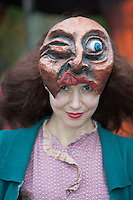 "26/10/2014 Singer Songwriter Lisa Hannigan who took part the Macnas parade Symphony for the restless"" took over Galway for a spectacular event that scared and thrilled young and old. Photo:Andrew Downes"