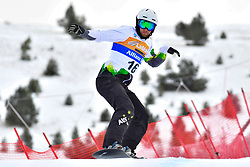 PATMORE Simon, SB-UL, AUS, Banked Slalom at the WPSB_2019 Para Snowboard World Cup, La Molina, Spain