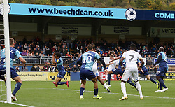 Josh Knight of Peterborough United scores his sides second goal of the game - Mandatory by-line: Joe Dent/JMP - 05/10/2019 - FOOTBALL - Adam's Park - High Wycombe, England - Wycombe Wanderers v Peterborough United - Sky Bet League One