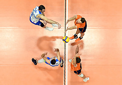 02-01-2020 SLO: Slovenia - Netherlands, Maribor<br /> Alen Pajenk of Slovenia, Michael Parkinson #17 of Netherlands during friendly volleyball match between National Men teams of Slovenia and Netherlands