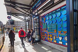 "United States, Washington, Kirkland, ""Pump-to-Gram"" Public Art at Transit Center"
