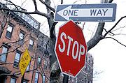 city street traffic signs