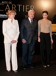HRH. Carlota Casiraghi (R), Bernard Fornas (C) and Carmen Thyssen (L)  opens Cartier exhibition at Thyssen Museum, Madrid, Spain, October 22, 2012. Photo by Belen D. Alonso / DyD Fotografos / i-Images...SPAIN OUT