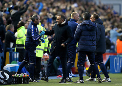 Sheffield Wednesday Manager Carlos Carvalhal celebrates Ross Wallace's goal - Mandatory by-line: Robbie Stephenson/JMP - 13/05/2016 - FOOTBALL - Hillsborough - Sheffield, England - Sheffield Wednesday v Brighton and Hove Albion - Sky Bet Championship Play-off Semi Final first leg
