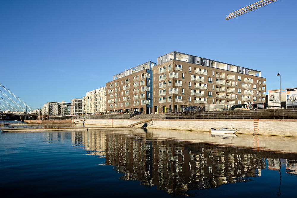Helsingin Saukonranta apartment buildings in Finland, designed by B&M architects.