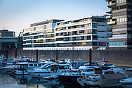 the building Dock 6-10 at the Rheinau harbour, Cologne, Germany. <br /> <br /> das Gebaeude Dock 6-10 im Rheinauhafen, Koeln, Deutschland.