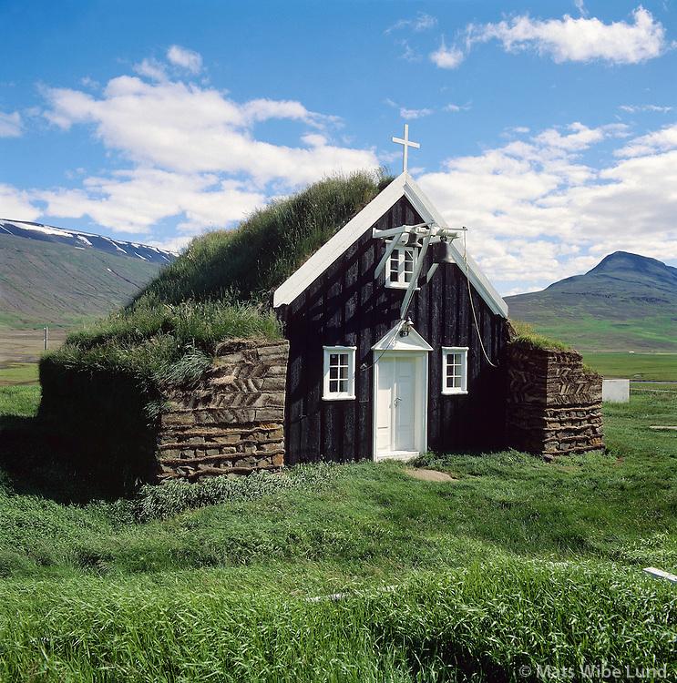 Saurbær torfkirkja, Saurbæjarhreppur í Eyjafirði ..Saurbear church, Eyjafjordur