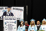 Craig Graves delivers the Salutatorian Address during the Fairborn High School commencement at the Nutter Center in Fairborn, Friday, May 25, 2012.
