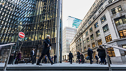 London's Square Mile financial district as European markets follow US and Asian markets lower on Tuesday as investors continued to dump shares. London, February 06 2018.