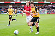 Cambridge United midfielder Luke Hannant in action  during the EFL Sky Bet League 2 match between Salford City and Cambridge United at Moor Lane, Salford, United Kingdom on 12 October 2019.