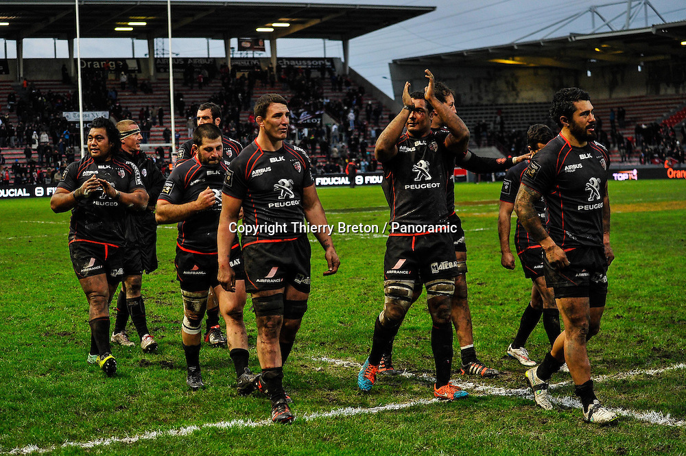 Joie fin de match Stade Toulousain