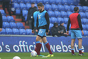 Cameron Burgess Scunthorpe Defender warms up during the EFL Sky Bet League 1 match between Oldham Athletic and Scunthorpe United at Boundary Park, Oldham, England on 28 October 2017. Photo by George Franks.