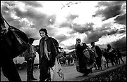 War in Kosovo<br /> Refugees arriving in Kukes Albania