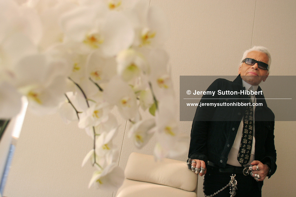 Karl Lagerfeld, of Chanel, at the new Chanel store in Ginza, Tokyo, Japan
