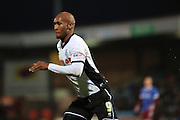 Calvin Andrew during the Sky Bet League 1 match between Scunthorpe United and Rochdale at Glanford Park, Scunthorpe, England on 28 December 2015. Photo by Daniel Youngs.