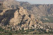 Dar al-Hajar, the residence of Imam Yahya in the Wadi Dhar near San?a?. Looking down into the Wadi. Morning.