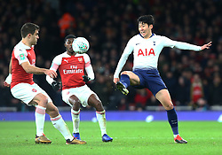 December 19, 2018 - London, England, United Kingdom - London, UK, 19 December, 2018.Tottenham Hotspur's Son Heung-Min.during Carabao Cup Quarter - Final between Arsenal and Tottenham Hotspur  at Emirates stadium , London, England on 19 Dec 2018. (Credit Image: © Action Foto Sport/NurPhoto via ZUMA Press)