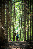 Meg & Jared's forest engagment shoot in Cambridge