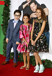 Owen Vaccaro, Scarlett Esteves and Didi Costine at the Los Angeles premiere of 'Daddy's Home 2' held at the Regency Village Theatre in Westwood, USA on November 5, 2017.
