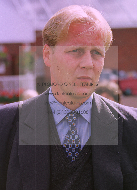 Trainer EDWARD DUNLOP at a race meeting at Newbury on 18th September 1998.MKC 125