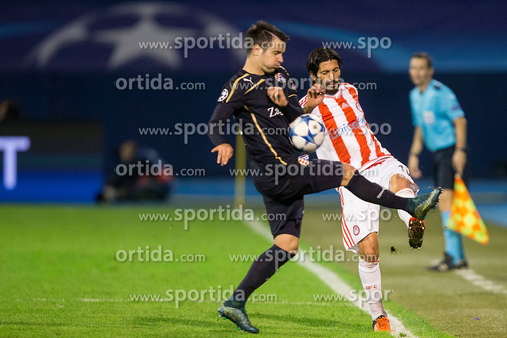 Alejandro Damaian Dominguez #10 of Olympiakos during football match between GNK Dinamo Zagreb and Olympiakos in Group F of Group Stage of UEFA Champions League 2015/16, on October 20, 2015 in Stadium Maksimir, Zagreb, Croatia. Photo by Urban Urbanc / Sportida