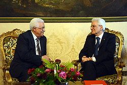 15.05.2015, Rom, ITA, der Palaestinensische Praesident Mahmoud Abbas auf Italien Besuch, im Bild der Palästinensische Präsident Mahmoud Abbas bei seinem Staatsbesuch in Italien // Palestinian President Mahmoud Abbas meets with Italian President Sergio Mattarella in Rome Abbas arrived in Rome for three days of meetings with Italian government institutions and the Vatican, Italy on 2015/05/15. EXPA Pictures © 2015, PhotoCredit: EXPA/ APAimages/ Thaer Ganaim<br /> <br /> *****ATTENTION - for AUT, GER, SUI, ITA, POL, CRO, SRB only*****