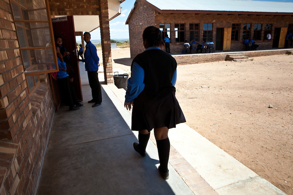 18 March 2011, Mmaphuti Secondary School, Capricorn District, Kalkspruit, South Africa. The Girls and Boys education movement provieds African children a platform to make the best of their potential. It gives them access to sckills and information, helps them to mobilise their communities to support the rights of girls and provides a space where they can discuss issues that matter to them.