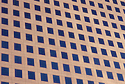 Close up view of modern architecture.