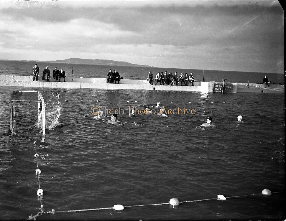 Water Polo - Ireland vs Wales at Blackrock baths, Dublin.27/07/1957