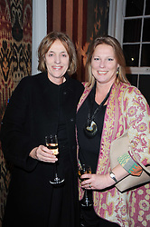 Left to right, MELISSA WYNDHAM and VISCOUNTESS GORMANSTON at the opening of Luke Irwin's showroom at 22 Pimlico Road, London SW1 on 24th November 2010.