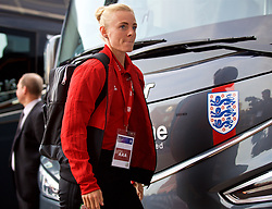 SOUTHAMPTON, ENGLAND - Friday, April 6, 2018: Wales' captain Sophie Ingle arrives before the FIFA Women's World Cup 2019 Qualifying Round Group 1 match between England and Wales at St. Mary's Stadium. (Pic by David Rawcliffe/Propaganda)